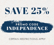Save with promo code INDEPENDENCE